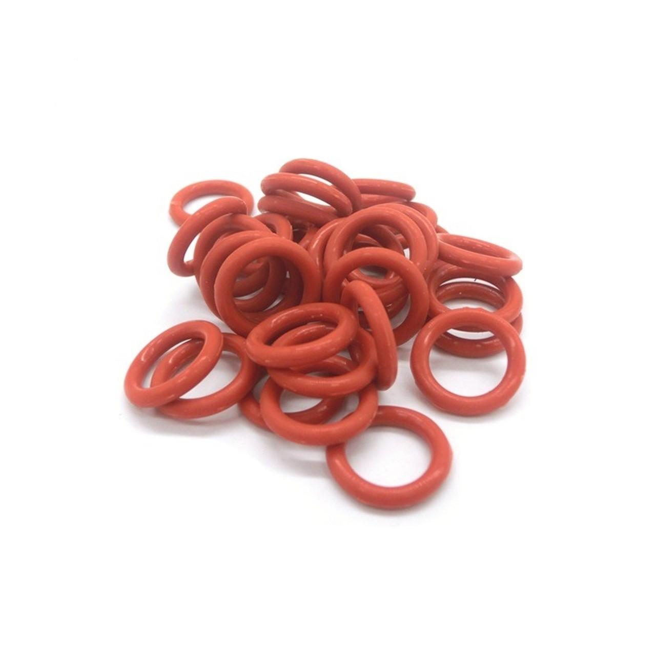 Anel Oring de Silicone Vermelho 20,22x3,53mm