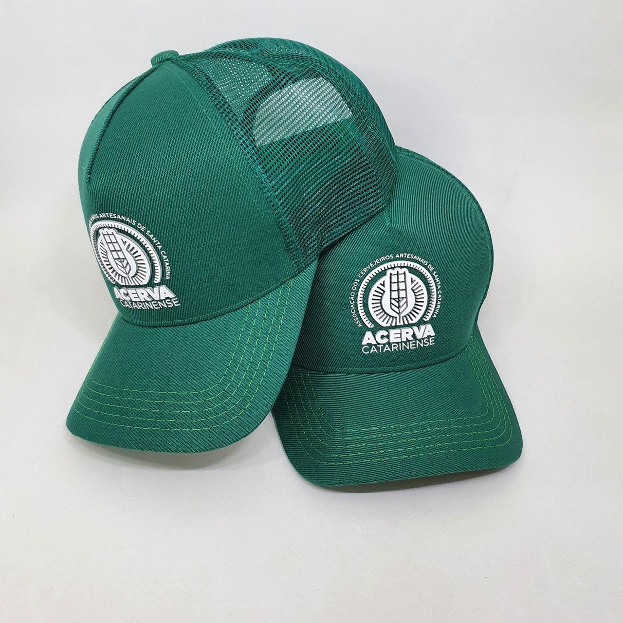 Boné Trucker Verde/Estampado Acerva Catarinense