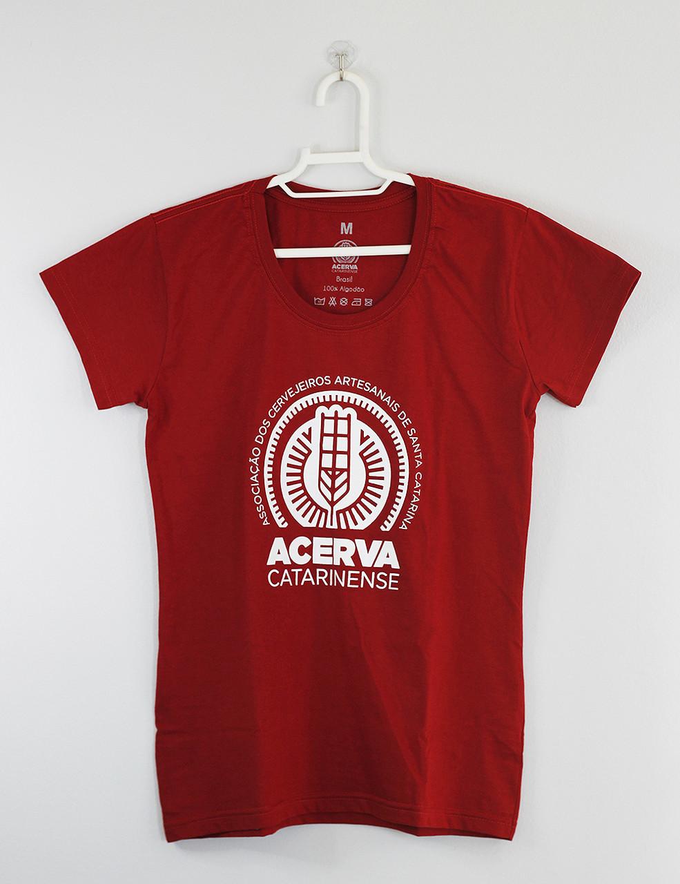 Camiseta Baby Look Acerva Catarinense Vermelho