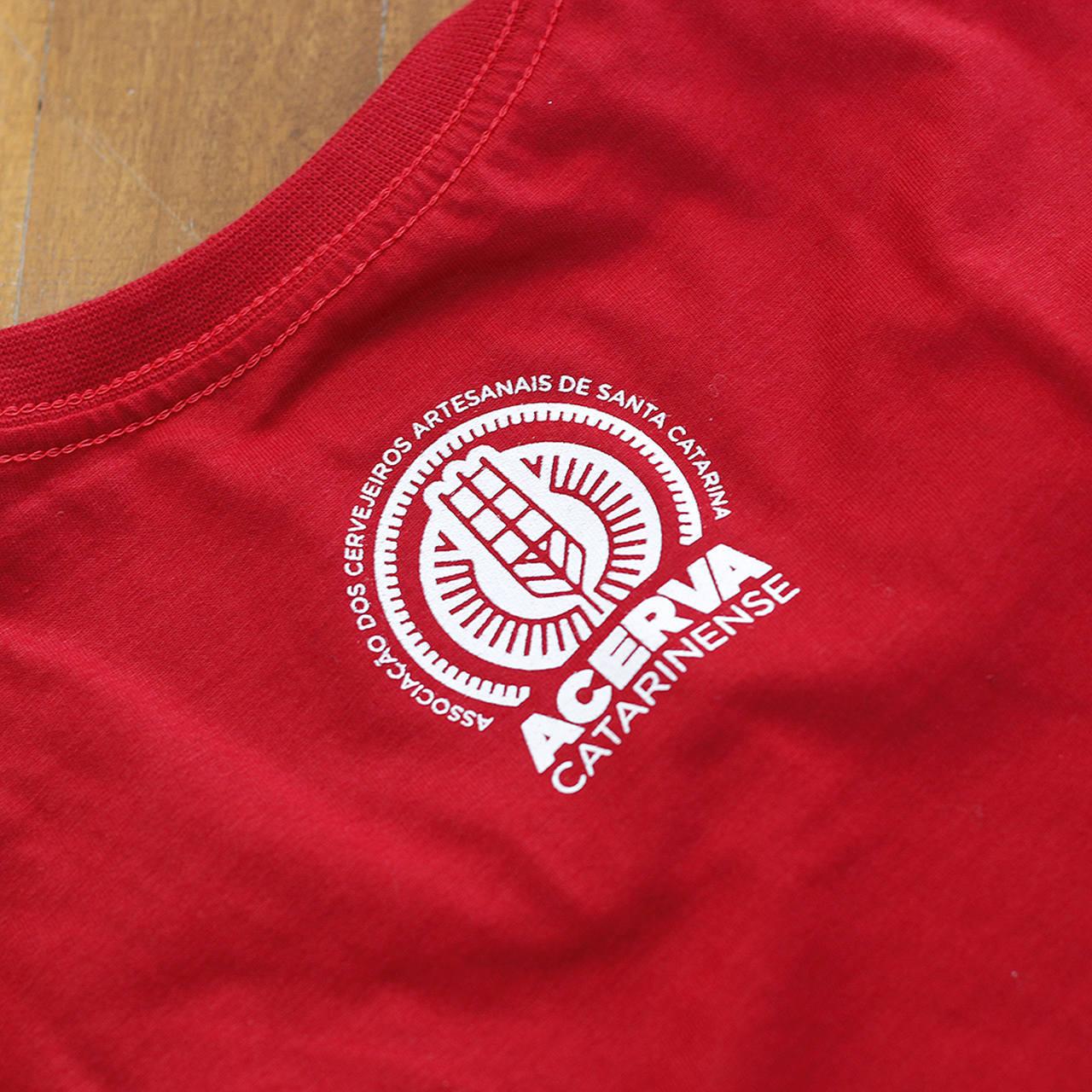 Camiseta Masculina Acerva Catarinense Vermelho  - Maria Cervejeira