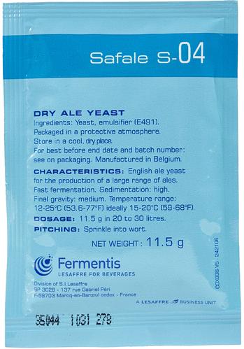 Fermento Fermentis Safale S-04