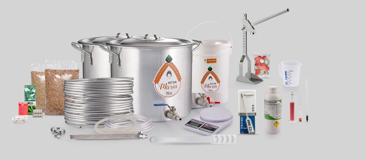 Kit Para Fazer Cerveja Artesanal - Intermediário 20L  - Maria Cervejeira