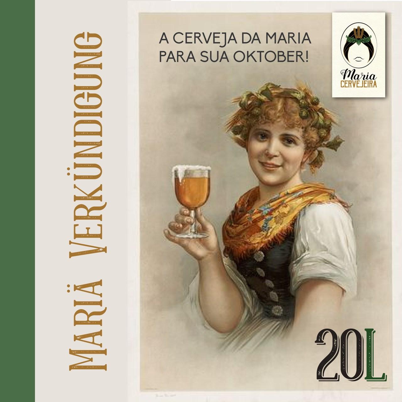 Kit Receita de Cerveja Artesanal Vienna Lager 20L  - Maria Cervejeira