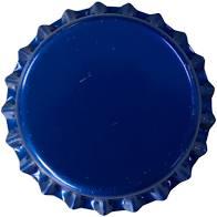 Tampinha - Rolha Metálica Azul Pry-Off 26mm  - Maria Cervejeira