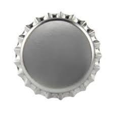 Tampinha - Rolha Metálica Prata Pry-Off 26mm