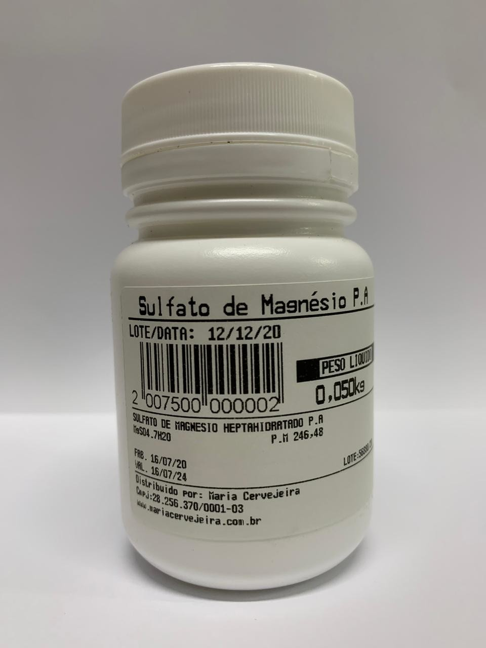 Sulfato de Magnésio Embalagem 50g  - Maria Cervejeira