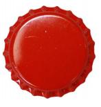 Tampinha - Rolha Metálica Vermelha Pry-Off 26mm