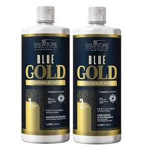 Escova Progressiva Sem Formol Blue Gold Salvatore 2 x 500 ml - PW  Distribuidora ... 7f6c3154b6