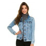Jaqueta Jeans Com Bolso Clara