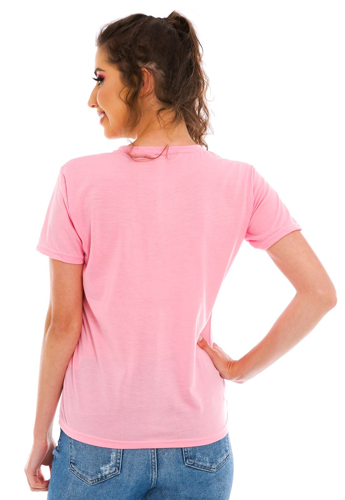 Blusa Bordada Woman Rosa