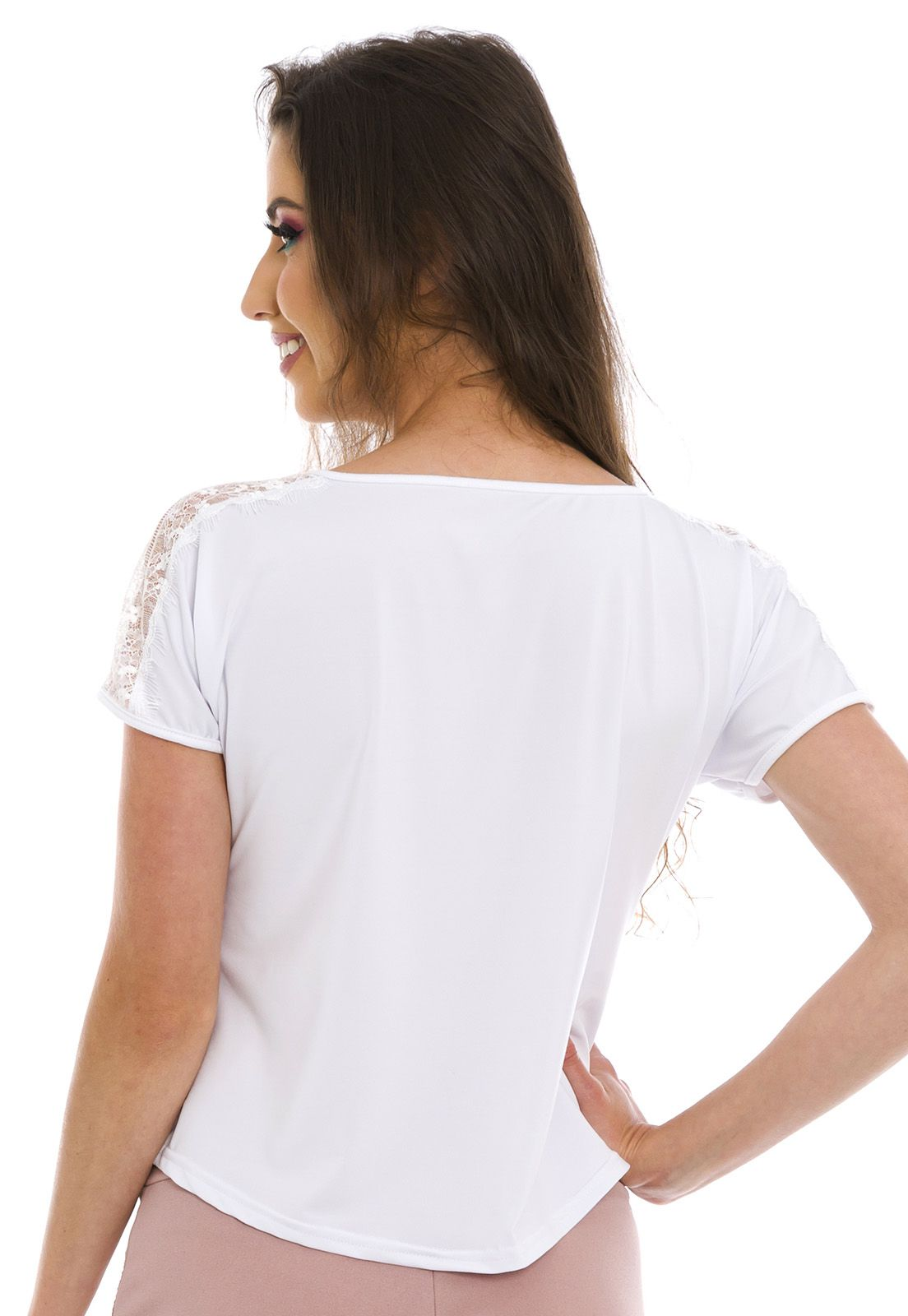 Blusa Detalhe Ombro Branca