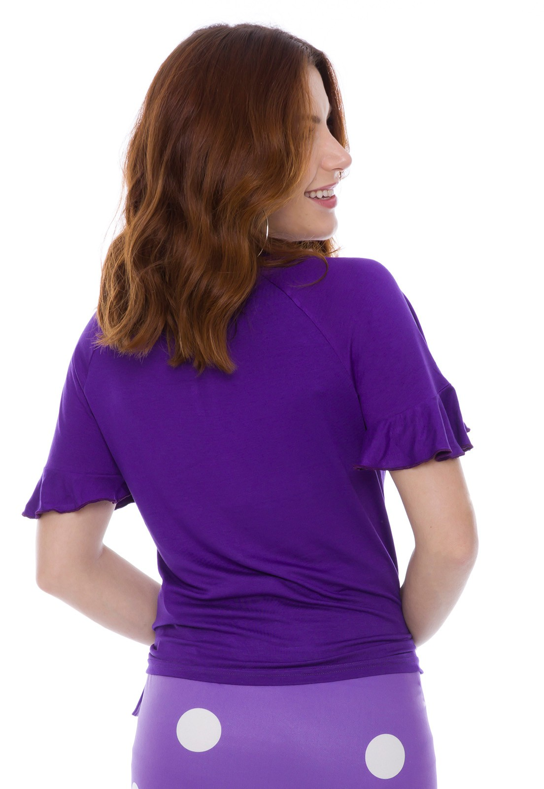 Blusa Manga Raglan Violeta