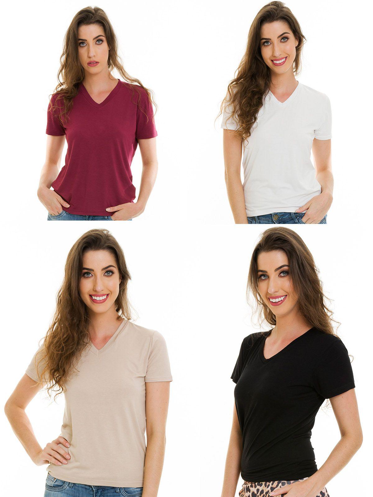 Blusas Básicas Várias cores