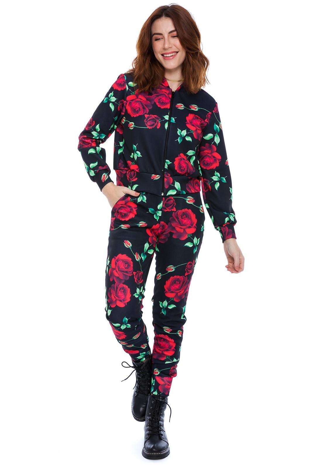 Calça Jogger Estampada Floral