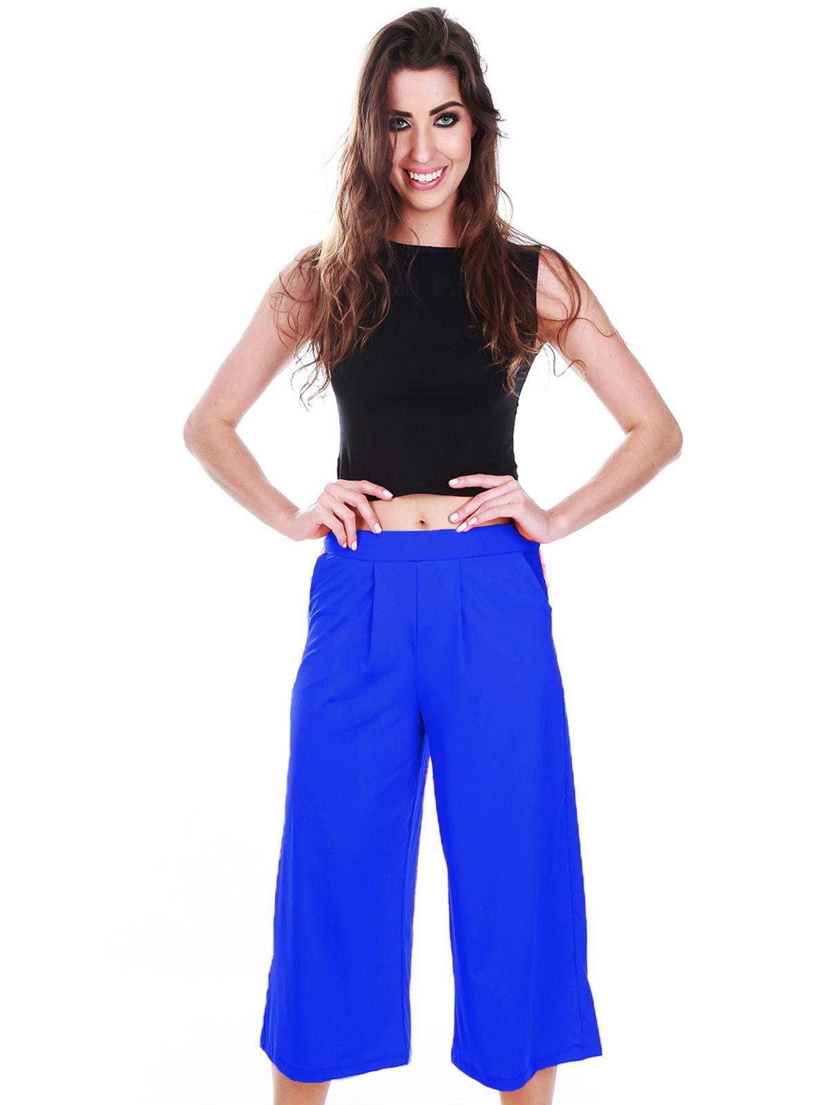 Calça Pantacourt Azul