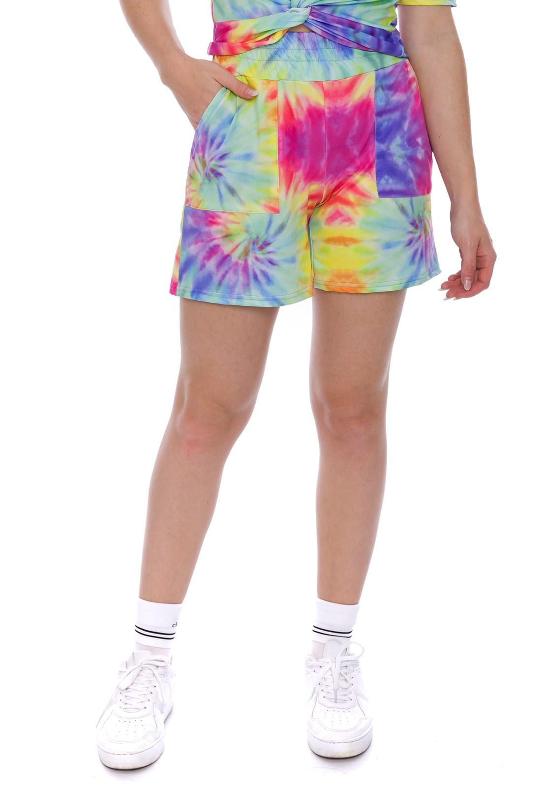 Conjunto Tie Dye Shorts e Blusa