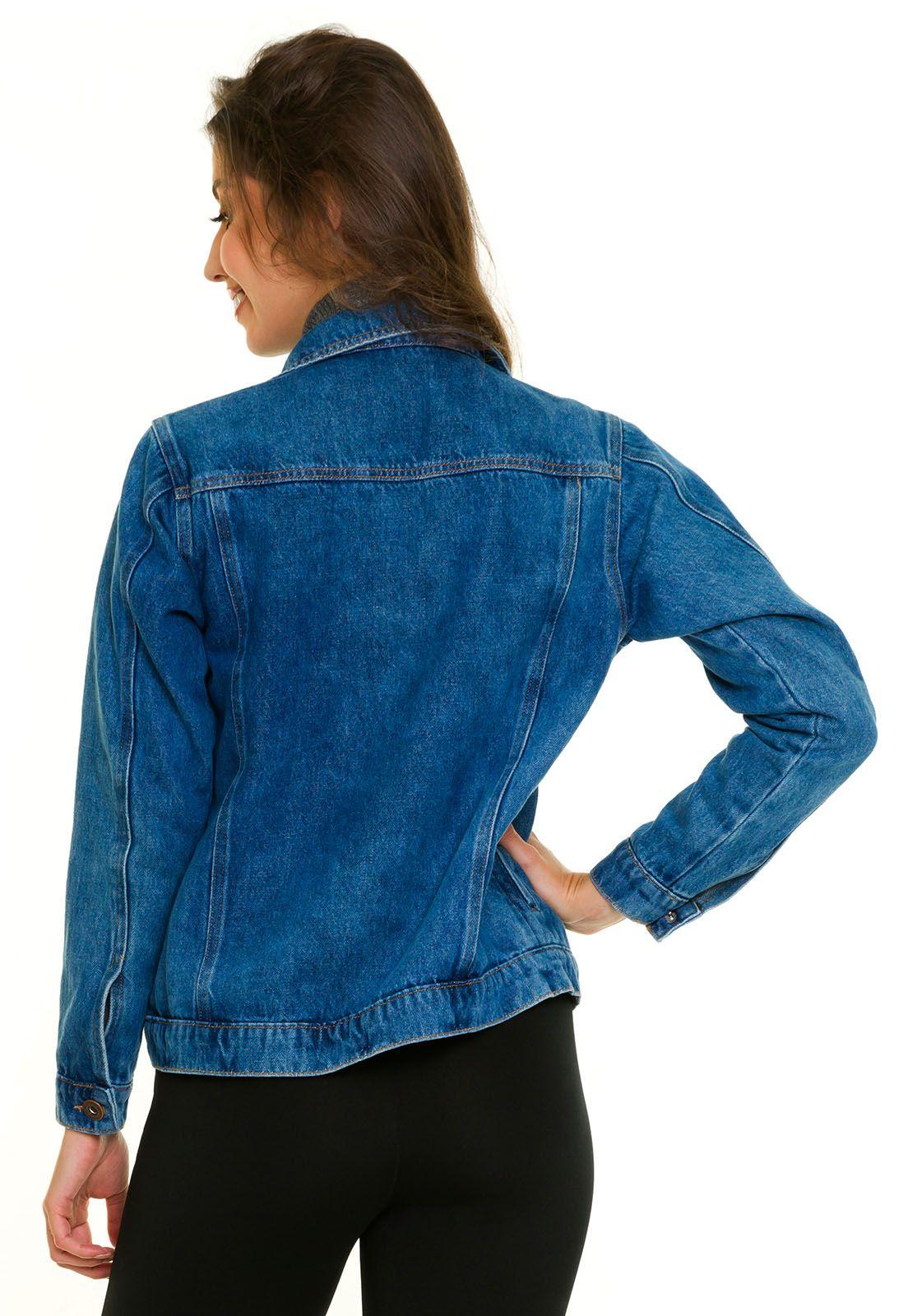 Jaqueta Jeans Com Bolso