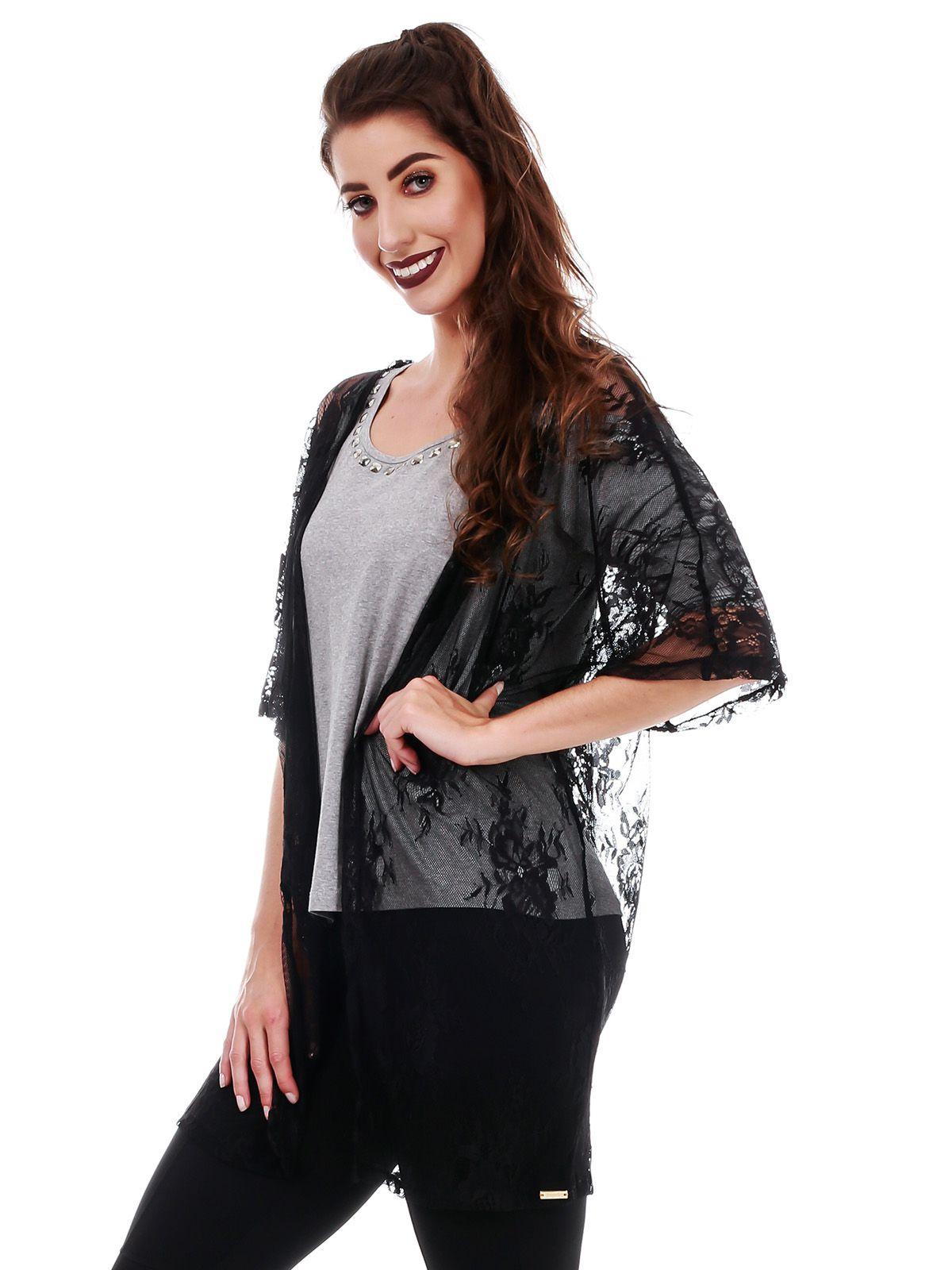 Kimono Transparente Preto