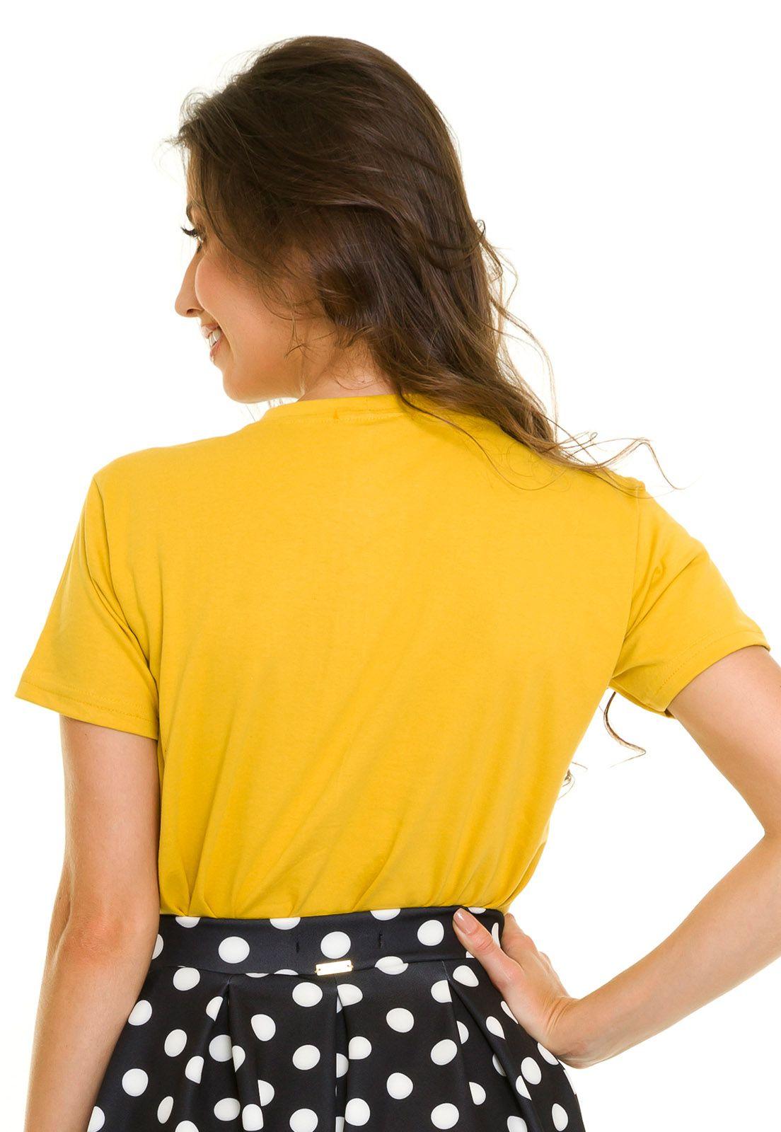 T-shirt Grace Amarela
