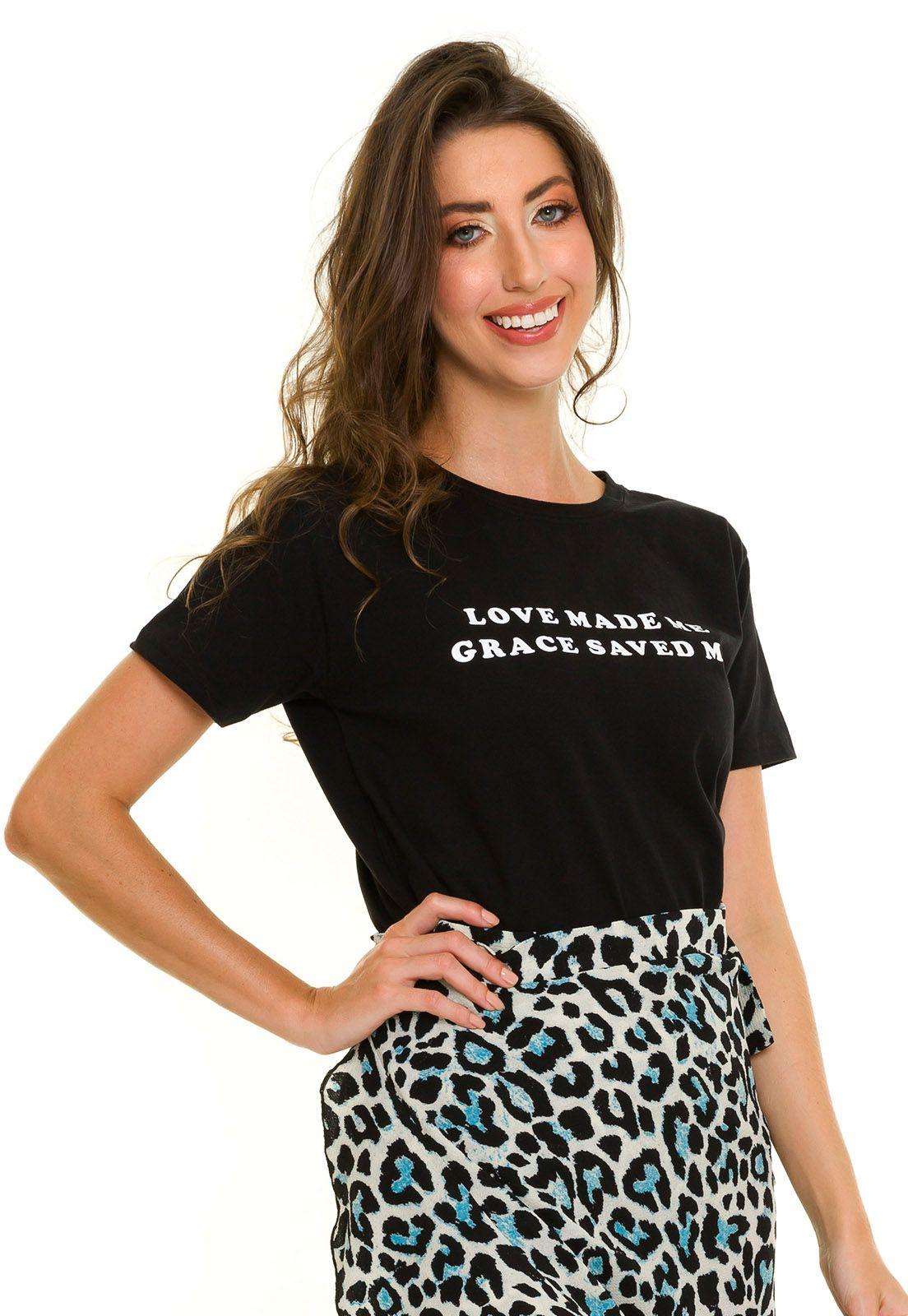 T-shirt Grace Preta