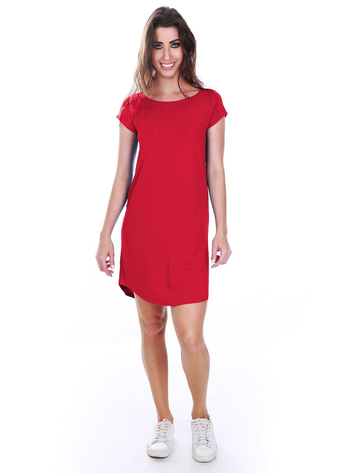 Vestido Camisa Vermelho