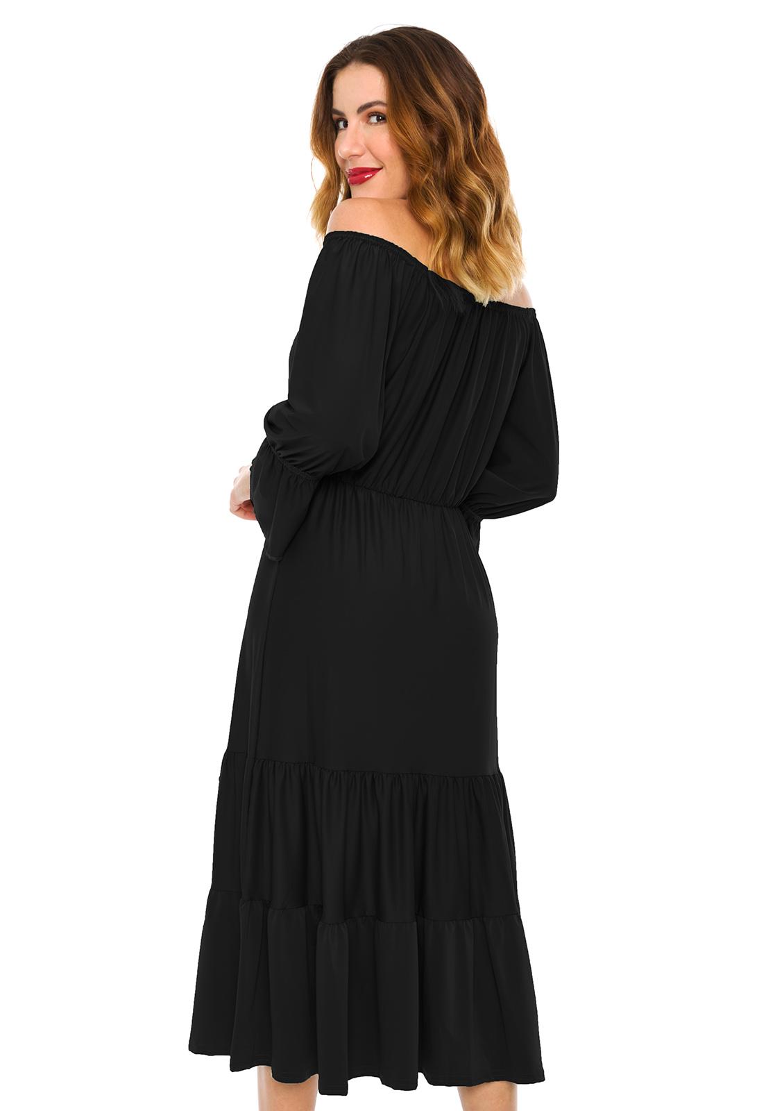 Vestido Ciganinha Midi Preto