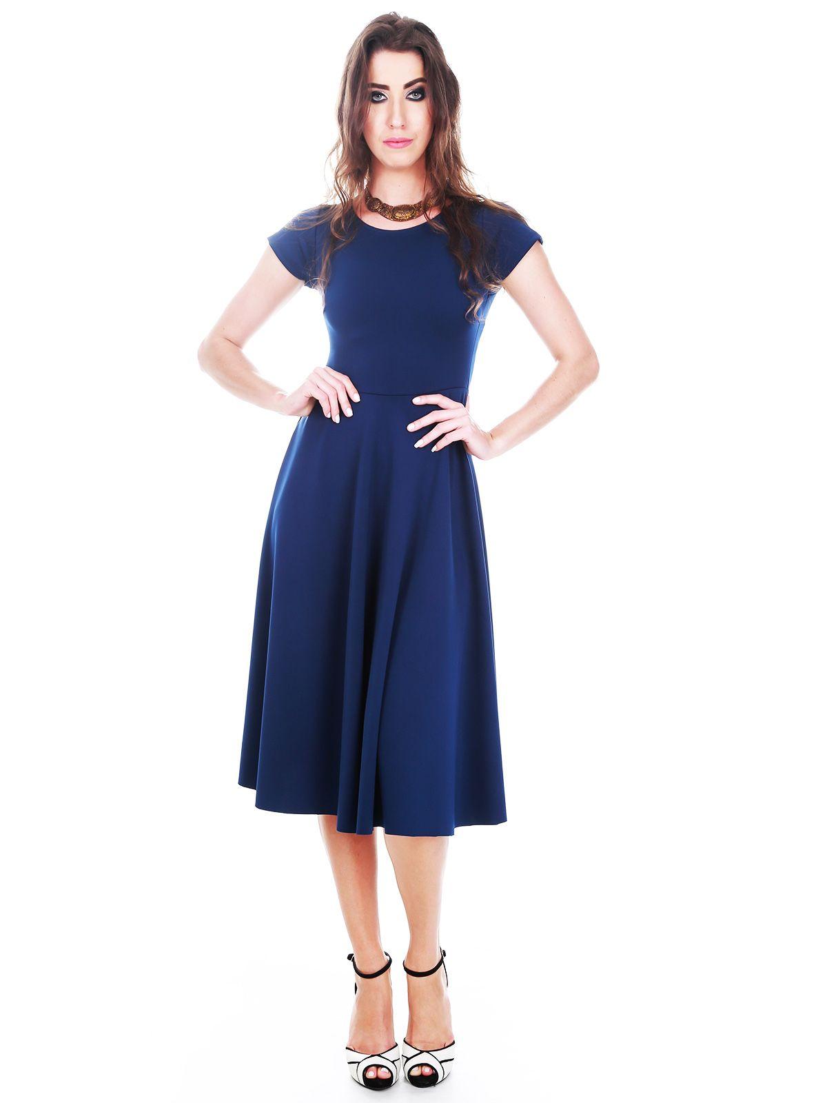 Vestido Godê Azul-Marinho