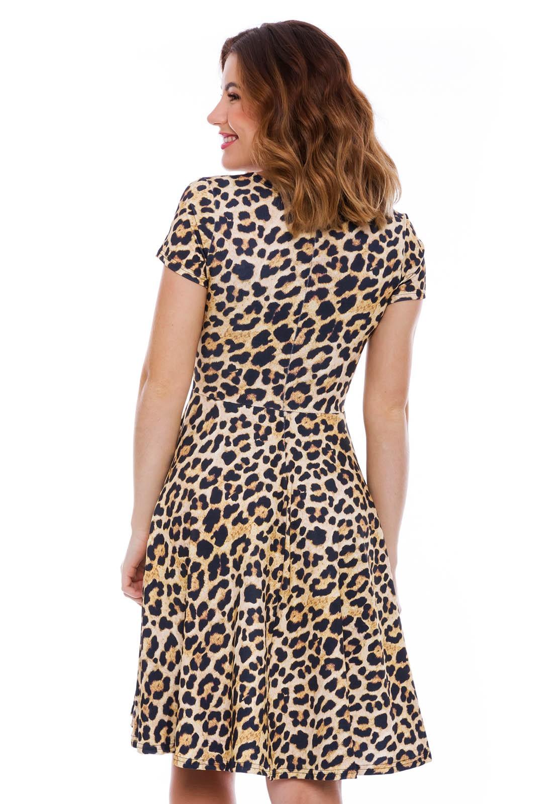 Vestido Godê Curto Animal Print
