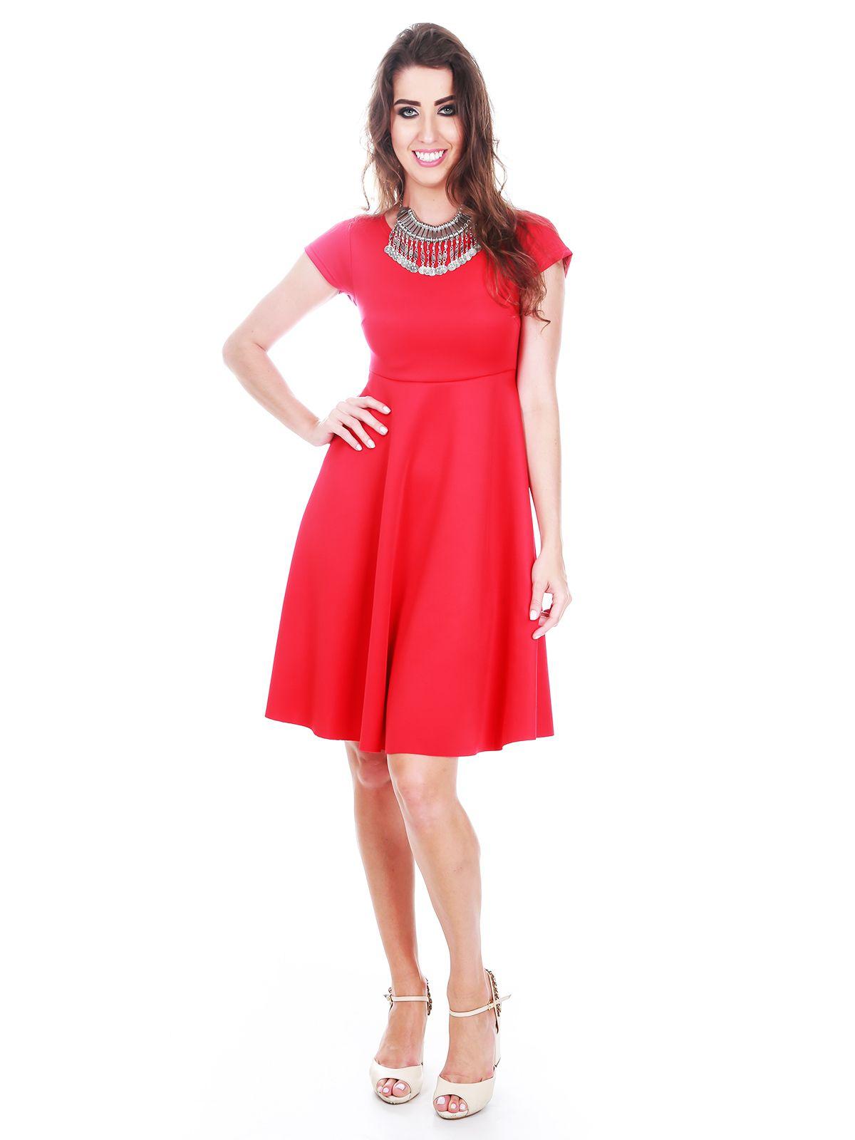 Vestido Godê Curto Vermelho