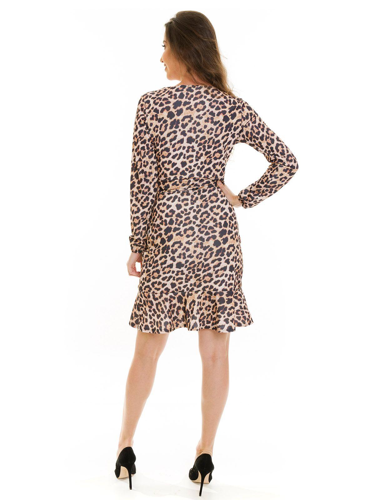 Vestido Transpassado Animal Print