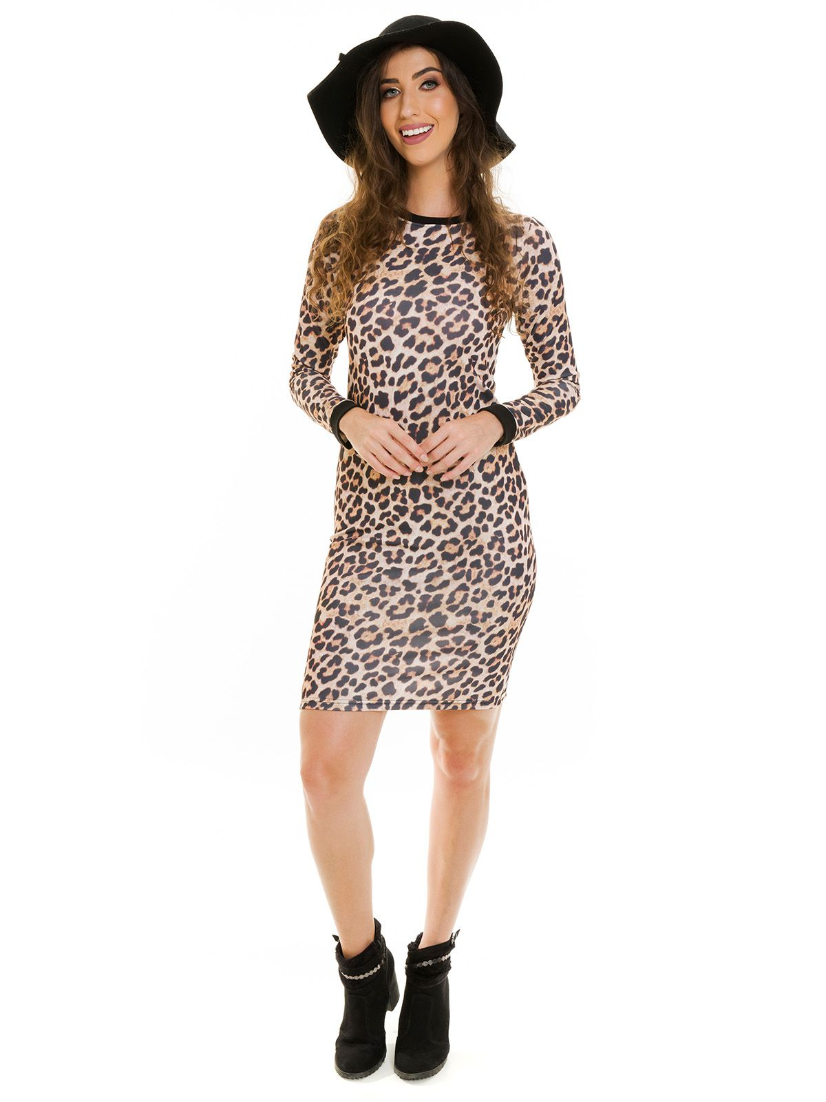 Vestido Tubinho Animal Print