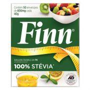 Adoçante em Pó 100% Stevia Finn - 50 envelopes