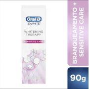 Creme Dental 3D Whitening Therapy Sensitive Care 90g - Oral-B