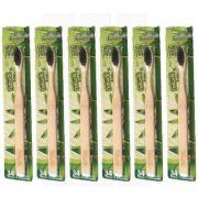 Escova Dental Bamboo Macia Colgate - Kit com 6 unidades