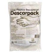 Luva Plástica Descartável Descarpack - 100 unidades