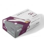 Luva Unigloves Látex Standard Branca Tamanho M - 100 unidades