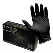 Luvas Nitrílicas Preta Tamanho M Supermax - 100 unidades