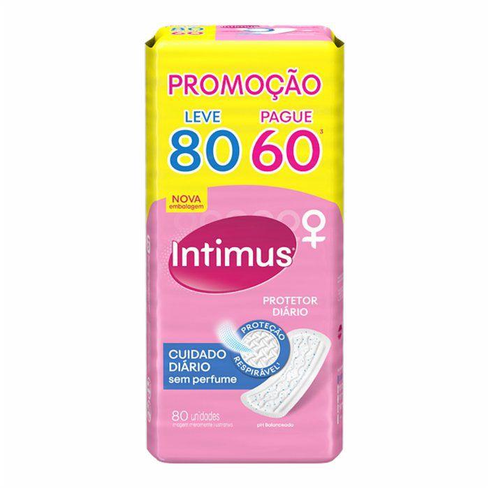 Absorvente Cuidado Diário sem abas Intimus Days - 80 unidades