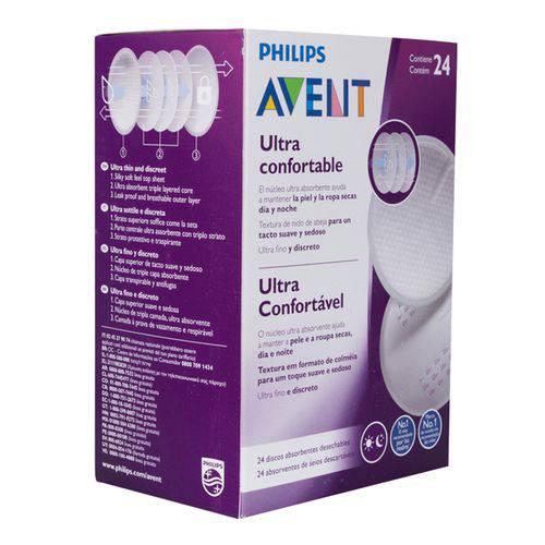 Absorvente para seios descartável dia e noite Philips Avent - 24 unidades