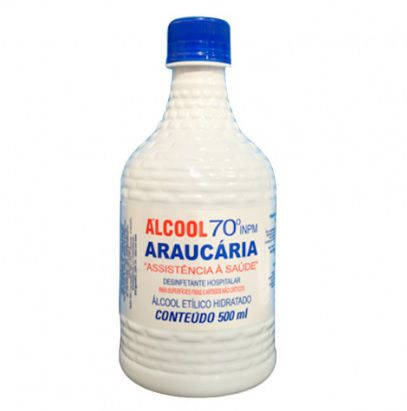 Álcool Líquido 70% Araucária 500ml - Kit com 12 und