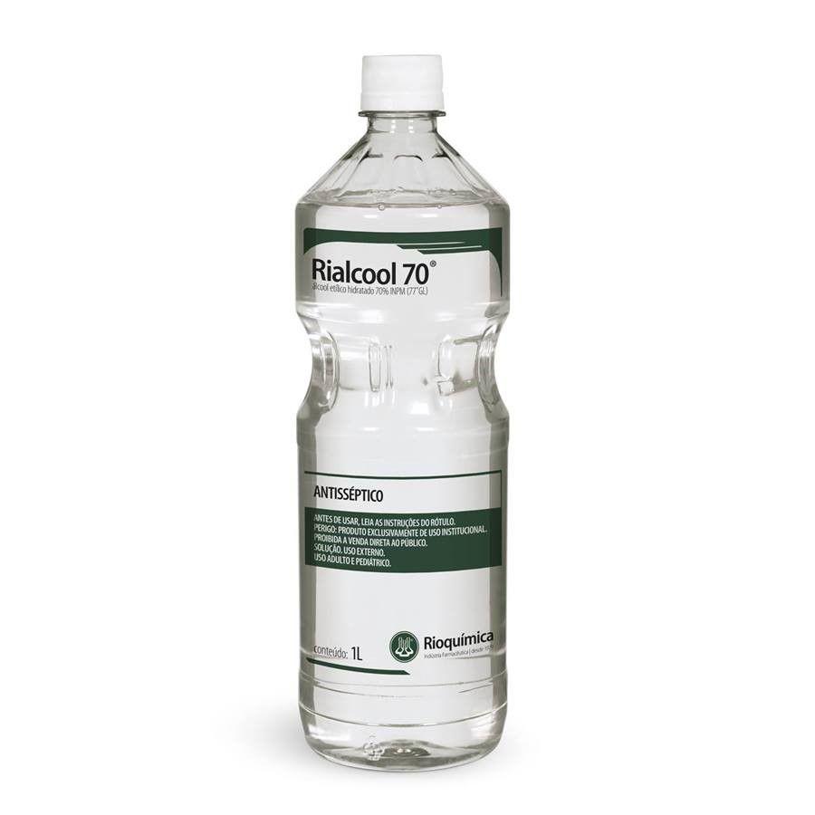 Álcool Antisséptico Rialcool 70% Rioquímica - 1 L
