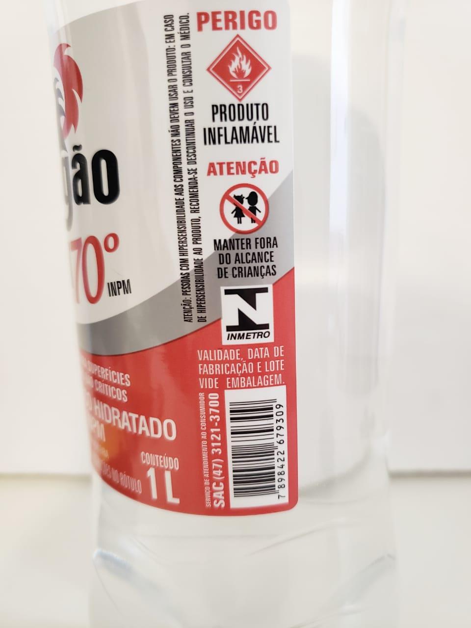 Álcool Etílico 70º INPM Dragão - 1L
