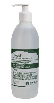 Álcool Gel Antisséptico com Pump 70% Riogel - 430g