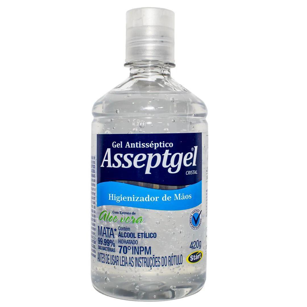 Álcool Gel Asseptgel Antisséptico 70% - 420g