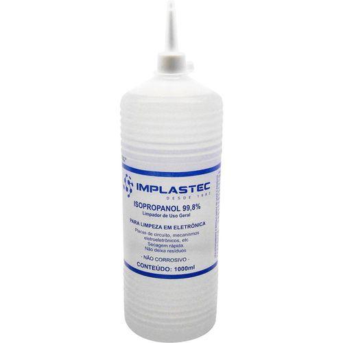 Álcool Isopropílico Implastec com Bico Aplicador - 1L