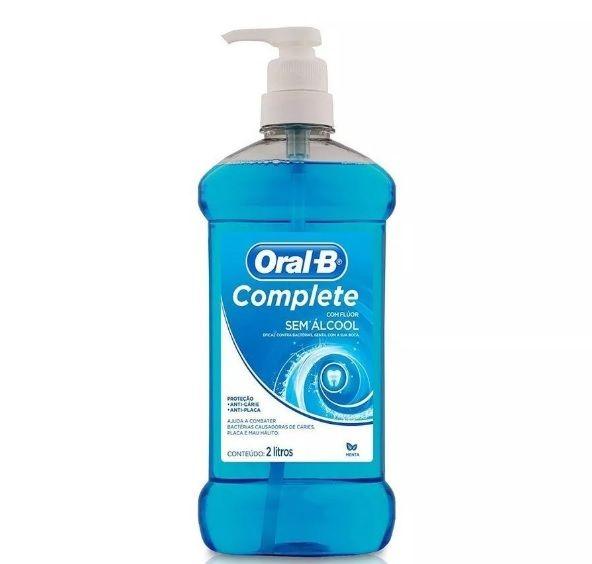 Antisséptico e Enxaguante Bucal Sem Álcool  Complete Menta 2L - Oral-B