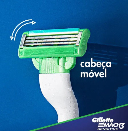 Gillette Mach3 Sensitive Aparelho de Barbear - 2 Cartuchos