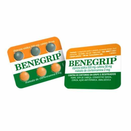 Benegrip 500mg - 6 comprimidos