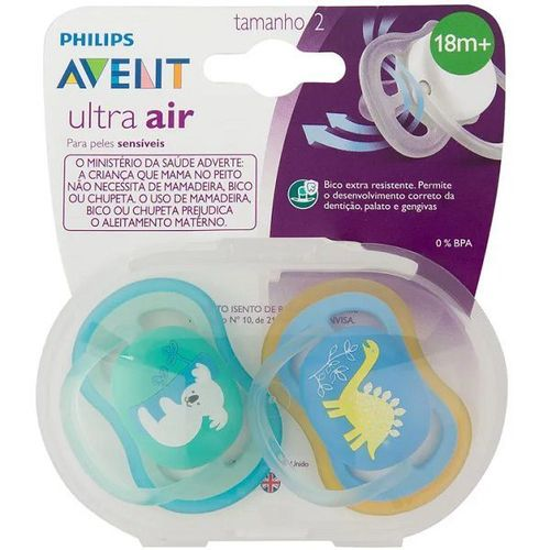 Chupeta ULTRA AIR Dupla Decorada Menino Philips AVENT - 18+ Meses