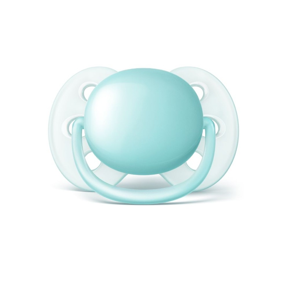 Chupeta Ultra Soft 0-6 Meses - Philips Avent Azul - 2 unidades